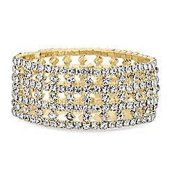 Red Herring - Open crystal stretch bracelet