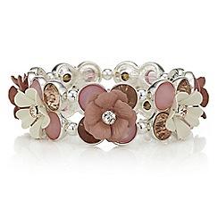 Red Herring - Pink floral cluster bracelet