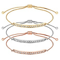 Red Herring - Pave toggle bracelet set
