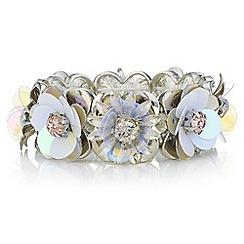 Red Herring - Sequin floral bracelet