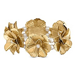 Red Herring - Pearl flower bracelet