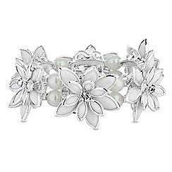 Red Herring - Crystal flower bracelet