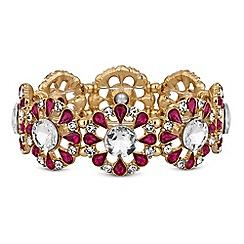 Red Herring - Crystal floral bracelet