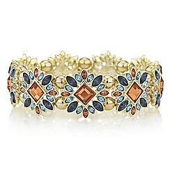 Red Herring - Coral crystal burst bracelet