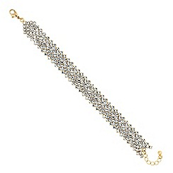 Red Herring - Gold crystal diamante bracelet