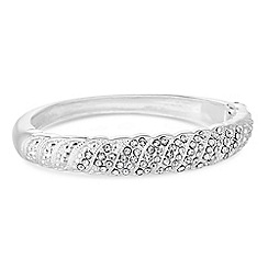 Red Herring - Silver crystal wave bangle