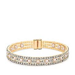 Red Herring - Diamante cuff bracelet