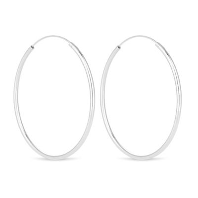 Simply Silver   Sterling Silver Large Hoop Earring by Simply Silver