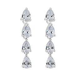 Simply Silver - Sterling silver peardrop earring