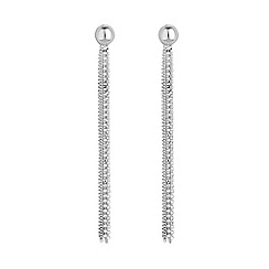 Simply Silver - Sterling silver multi chain tassel earring