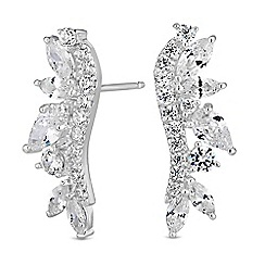 Simply Silver - Sterling silver climber earrings set