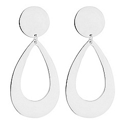 Simply Silver - Sterling silver statement drop earrings