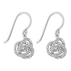 Simply Silver - Sterling silver dancing gemstone floral earrings