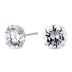 Simply Silver - Sterling silver cubic zirconia stud earrings