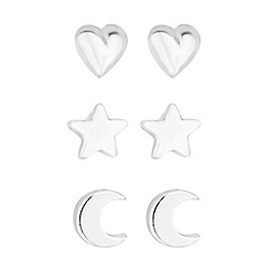 Simply Silver - Sterling silver celestial earrings set