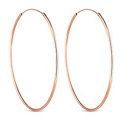 Simply Silver - Sterling silver large hoop earrings