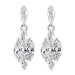 Simply Silver - Sterling silver cubic zirconia drop earrings