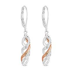 Simply Silver - Sterling silver multi tone swirl earrings