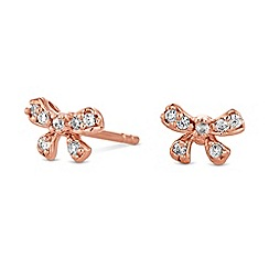 Simply Silver - Sterling silver bow stud earrings
