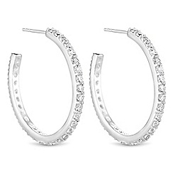 Simply Silver - Sterling silver cubic zirconia hoop earrings
