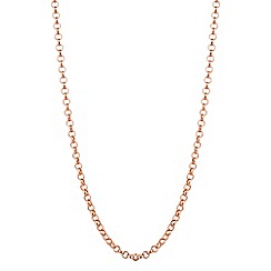 Simply Silver - Rose gold plated sterling silver rolo chain necklace