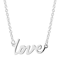 Simply Silver - Sterling silver love scripture pendant necklace