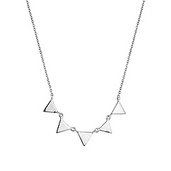 Simply Silver - Sterling silver mini triangle necklace