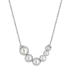 Simply Silver - Sterling silver graduated  pearl necklace