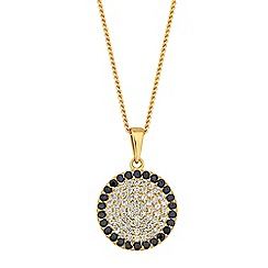 Simply Silver - Sterling silver pave disc necklace