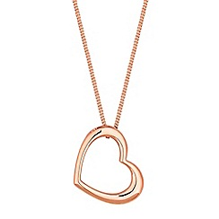 Simply Silver - Sterling silver open heart necklace