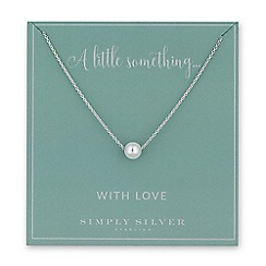 Simply Silver - Sterling silver pearl charm necklace