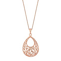 Simply Silver - Sterling silver floral filigree necklace