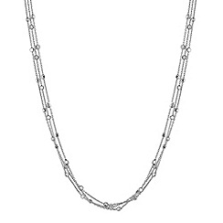 Simply Silver - Sterling silver multi chain cube necklace