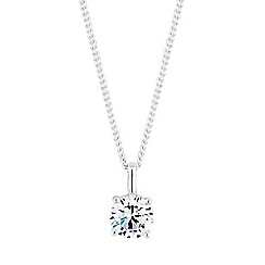 Simply Silver - Sterling silver cubic zirconia pendant necklace