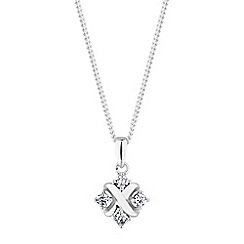 Simply Silver - Sterling silver pave cross necklace