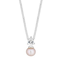 Simply Silver - Sterling silver pearl and cubic zirconia necklace