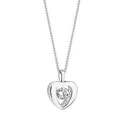 Simply Silver - Sterling silver dancing gemstone heart necklace