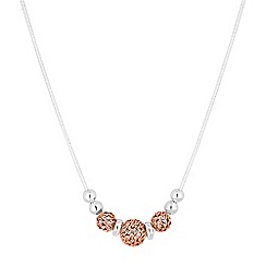 Simply Silver - Sterling silver filigree bead necklace