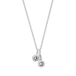 Simply Silver - Sterling silver cubic zirconia charm pendant necklace