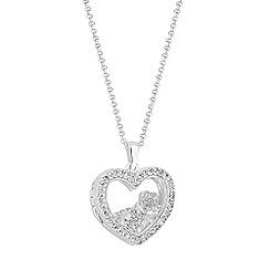 Simply Silver Sterling Charm Locket Pendant Necklace