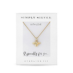 Simply Silver - 12ct gold plated sterling silver yellow carded boxed short pendant necklace