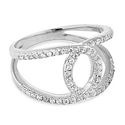 Simply Silver - Sterling silver cubic zirconia open link ring