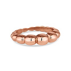 Simply Silver - Rose gold plated sterling silver textured ring