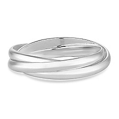 Simply Silver - Sterling silver triple link ring
