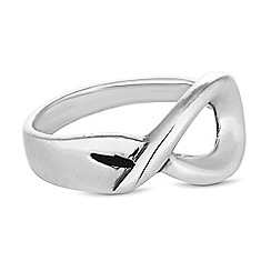 Simply Silver - Sterling silver open infinity ring