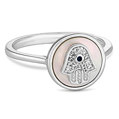 Simply Silver - Sterling silver hamsa hand rings