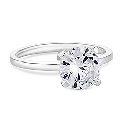 Simply Silver - Sterling silver cubic zirconia solitaire ring