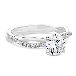 Simply Silver - Sterling silver cubic zirconia twist ring