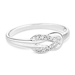 Simply Silver - Sterling silver open knot ring