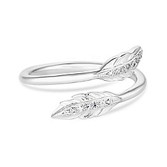 Simply Silver - Sterling silver feather ring